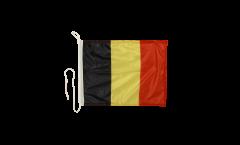 Drapeau pour bateau Belgique - 30 x 40 cm