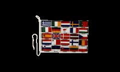 Drapeau pour bateau Les 25 Pays d'UE - 30 x 40 cm