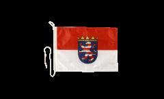 Drapeau pour bateau Allemagne Hesse - 30 x 40 cm