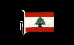 Drapeau pour bateau Liban - 30 x 40 cm