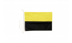 Drapeau pour bateau Jaune-Noir - 30 x 40 cm