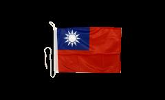 Drapeau pour bateau Taiwan - 30 x 40 cm