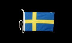 Drapeau pour bateau Suède - 30 x 40 cm