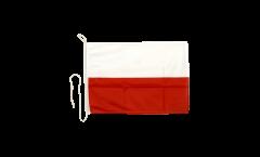 Drapeau pour bateau Pologne - 30 x 40 cm