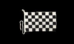 Drapeau pour bateau Damier F1 Blanc-Noir - 30 x 40 cm