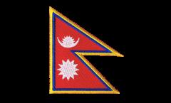 Écusson brodé Népal - 8 x 6 cm