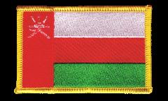 Écusson brodé Oman - 8 x 6 cm