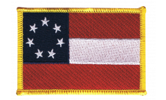 Écusson brodé USA Etats-Unis Stars and Bars 1861 - 8 x 6 cm