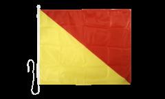 Drapeau du signal Oskar (O) - 75 x 90 cm
