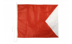 Drapeau du signal Bravo (B) - 75 x 90 cm