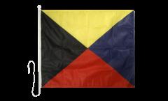 Drapeau du signal Zulu (Z) - 75 x 90 cm