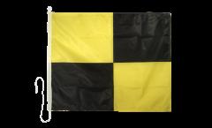 Drapeau du signal Lima (L) - 75 x 90 cm