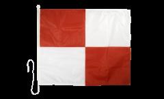 Drapeau du signal Uniform (U) - 75 x 90 cm