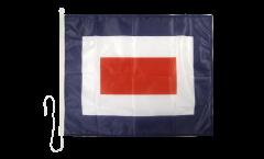 Drapeau du signal Whiskey (W) - 75 x 90 cm