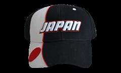 Casquette Japon, noire-blanche, flag