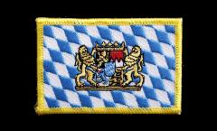 Écusson brodé Bavière avec Lion - 8 x 6 cm