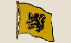 Pin's (épinglette) Drapeau Belgique Flandre - 2 x 2 cm