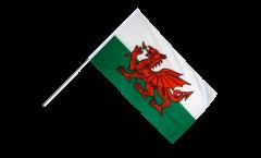 Drapeau Pays de Galles sur hampe - 60 x 90 cm