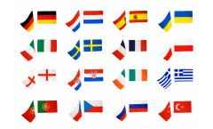 Kit drapeaux Football 2012 Groupe B - 90 x 150 cm
