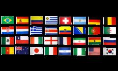 Kit Drapeaux Coupe du Monde 2014 - 90 x 150 cm
