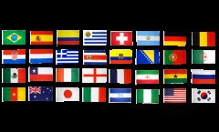 Kit Drapeaux Coupe du Monde 2014 - 30 x 45 cm
