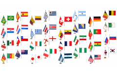 Kit Drapeaux de table Coupe du Monde 2014, mini drapeaux - 15 x 22 cm