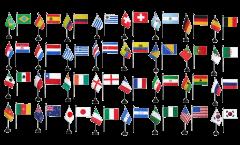 Kit Drapeaux de table Coupe du Monde 2014, mini drapeaux - 10 x 15 cm