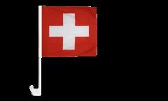 Drapeau de voiture Suisse - 30 x 30 cm