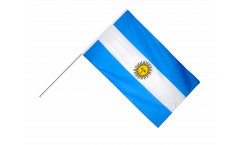 Drapeau Argentine sur hampe - 60 x 90 cm
