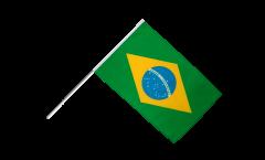 Drapeau Brésil sur hampe - 60 x 90 cm