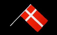Drapeau Danemark sur hampe - 60 x 90 cm