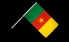 Drapeau Cameroun sur hampe - 60 x 90 cm