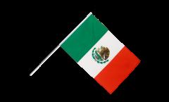 Drapeau Mexique sur hampe - 60 x 90 cm