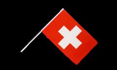 Drapeau Suisse sur hampe - 60 x 90 cm