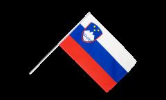 Drapeau Slovénie sur hampe - 60 x 90 cm