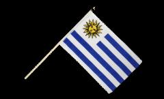 Drapeau Uruguay sur hampe - 60 x 90 cm