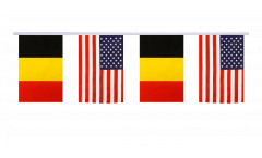 Guirlande d'amitié Belgique - USA - 15 x 22 cm