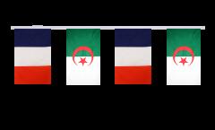 Guirlande d'amitié France - Algerie - 15 x 22 cm