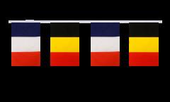 Guirlande d'amitié France - Belgique - 15 x 22 cm