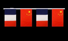 Guirlande d'amitié France - Chine - 15 x 22 cm
