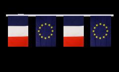 Guirlande d'amitié France - Union européenne UE - 15 x 22 cm