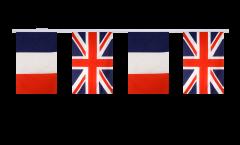 Guirlande d'amitié France - Royaume-Uni - 15 x 22 cm