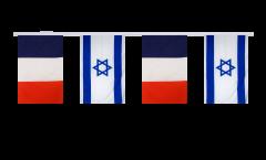 Guirlande d'amitié France - Israel - 15 x 22 cm