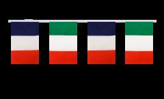 Guirlande d'amitié France - Italie - 15 x 22 cm