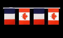 Guirlande d'amitié France - Canada - 15 x 22 cm