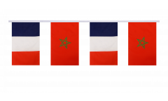 Guirlande d'amitié France - Maroc - 15 x 22 cm
