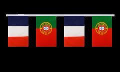 Guirlande d'amitié France - Portugal - 15 x 22 cm