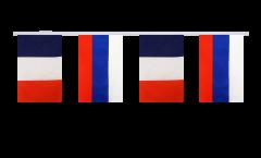 Guirlande d'amitié France - Russie - 15 x 22 cm