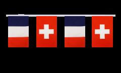 Guirlande d'amitié France - Suisse - 15 x 22 cm