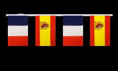 Guirlande d'amitié France - Espagne - 15 x 22 cm